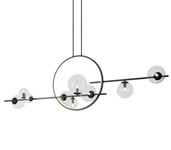 Design hanglamp Black Bubble Double