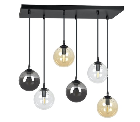 Glazen hanglamp Cosmo 6 Mix