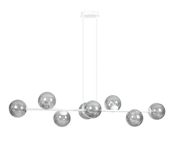 Glazen hanglamp Rossi 8 White