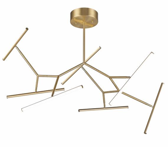 Sputnik hanglamp Gold Beams
