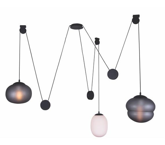 Glazen hanglamp Mixed Bowls