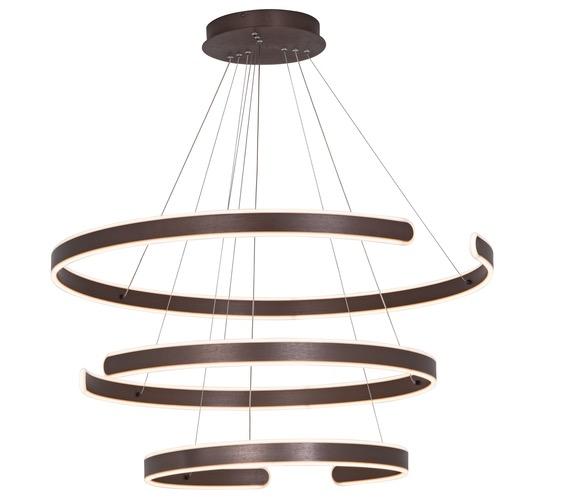 LED hanglamp Triple Open Brown