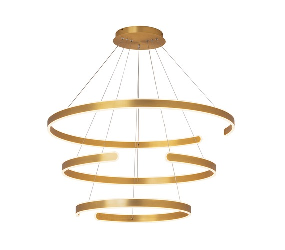 LED hanglamp Triple Open Gold