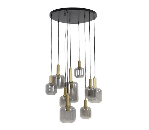 Glazen hanglamp Lehar Smoke