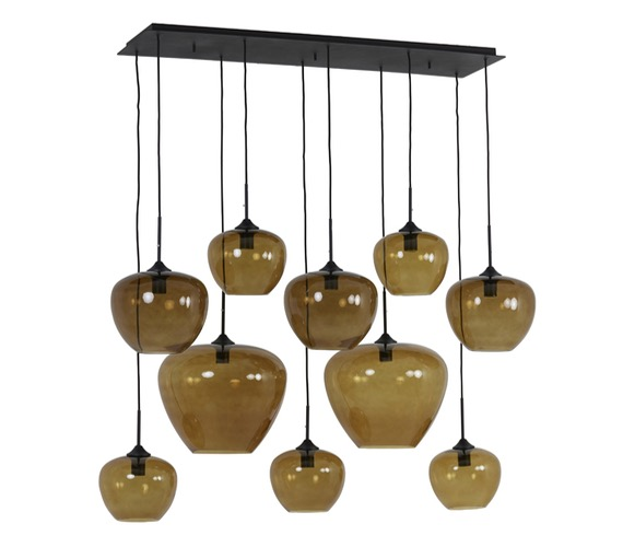 Glazen hanglamp Mason Bruin