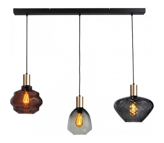 Glazen hanglamp Porto 3 Line