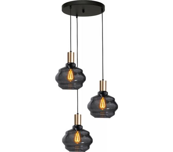Glazen hanglamp Porto 3 Round