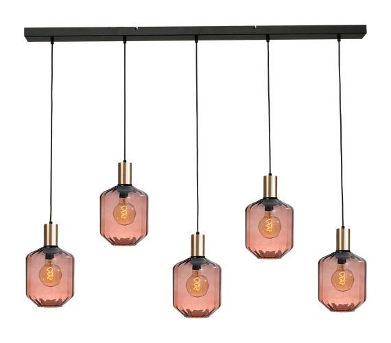 Glazen hanglamp Porto 5 Line